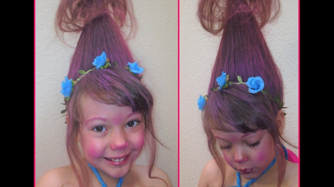 Peinado Troll Princesa Poppy Troll Hairstyle Princess Poppy