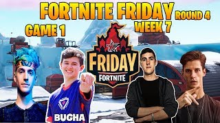 Fortnite Friday Insane Game 1 ( Ninja & Bugha VS Nate Hill & FunkBomb )