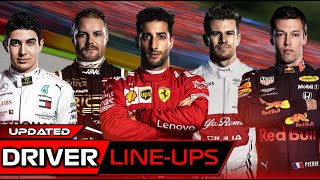 F1 2020 Driver Line Up Predictions - Updated