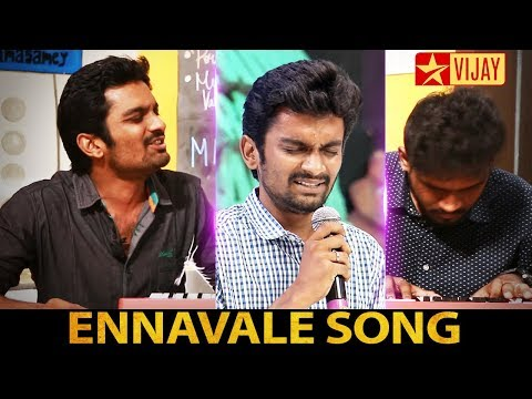 Ennavale Adi Ennavale song by Neeya Naana Fame Shreekanth Interview | Cute moment Vijay TV