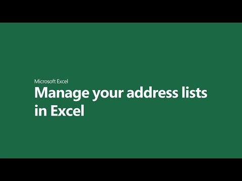 Mange your address lists in Excel thumbnail