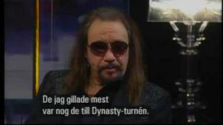 Ace Frehley - KIϟϟ  interview on Swedish TV Dec. 5  2009 Part 1/2