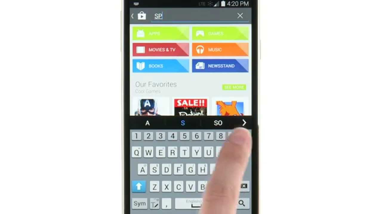 How To Use Play Store App - Samsung Galaxy S5