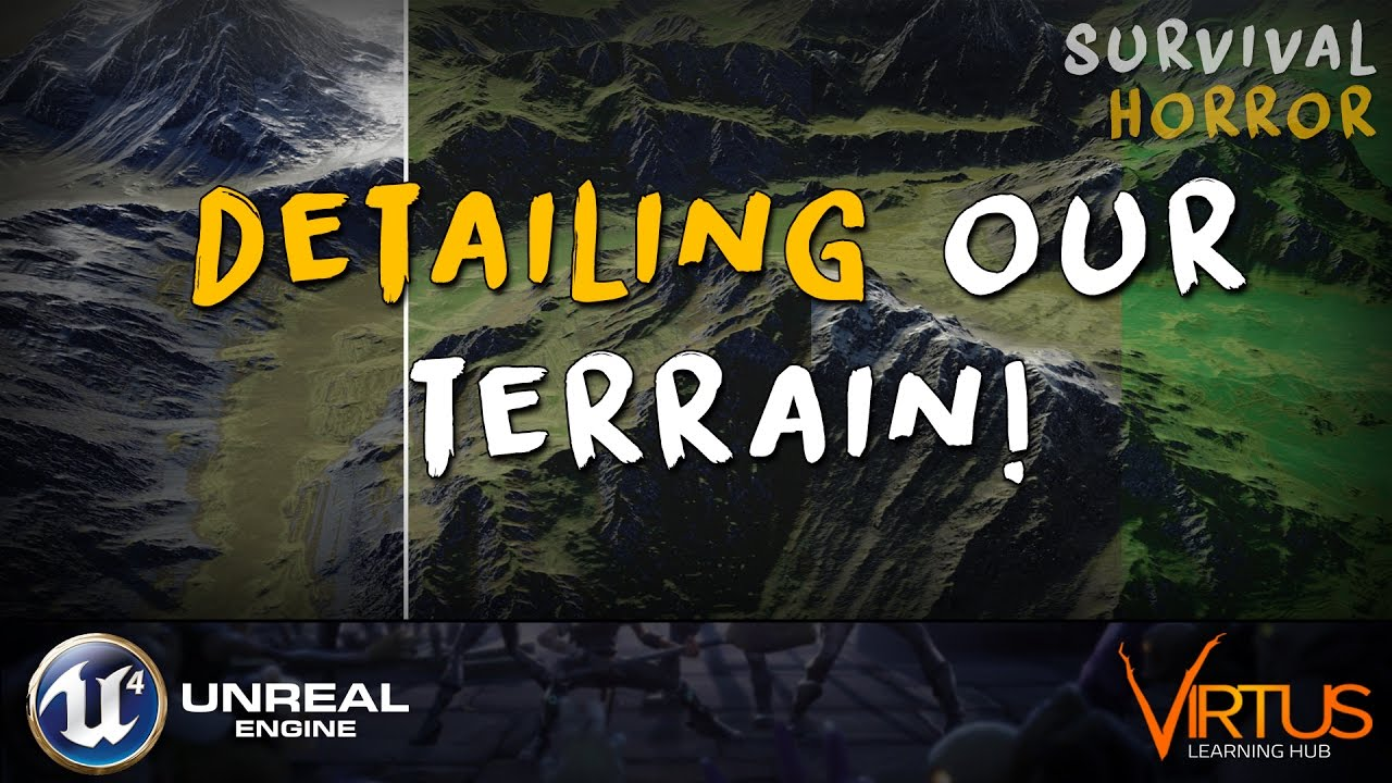 Terrain Painting & Material Changes - #23 Creating A Survival Horror  (Unreal Engine 4)