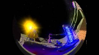 SpacePark360: Infinity - Scramber fulldome ride by Dome3D.  Music Disaster by Maggie Smith