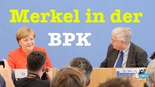 Kanzlerin Angela Merkel (CDU) in der Bundespressekonferenz - 20. Juli 2018