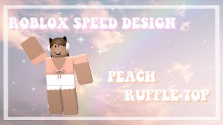 roblox speed design   peach ruffle top