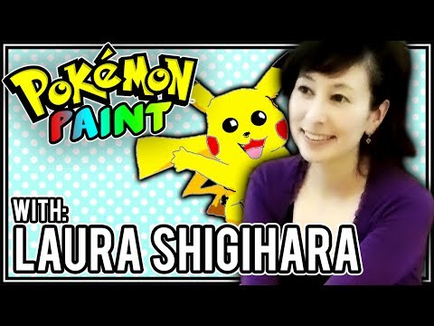 Drawing Pikachu! - Pokemon Paint #2 - Laura Shigihara (BrettUltimus/Supershigi)
