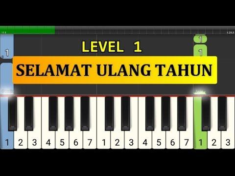 Melodi Piano Selamat Ulang Tahun - Tutorial Piano Tingkat 1 - Lagu Ulang Tahun