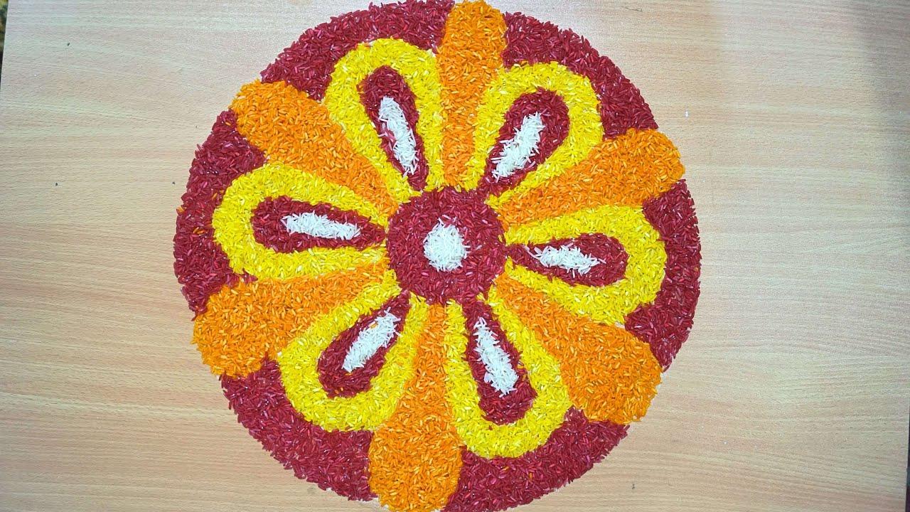 Onam Flower Carpet Simple Designs   Best Flower Site
