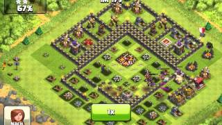 Clash of clans - 3 stars against maxed base 3400+