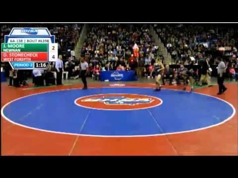 Newnan senior Jason Moore vs. West Forsyth's Denver Stonecheck: 138pound finals