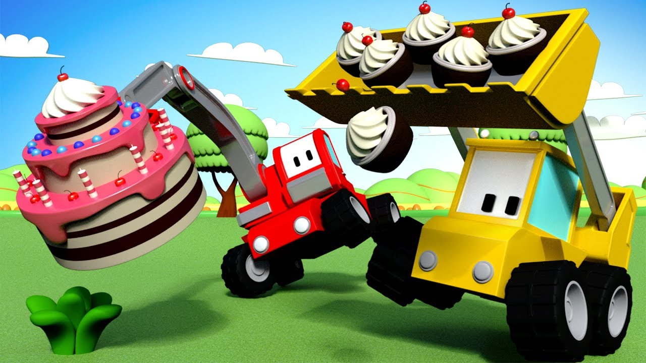 The Birthday Cake Tiny Trucks Cartoon For Children With