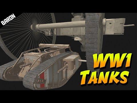 TSAR Tank vs MARK V, Crazy World War 1 Tanks - Men of War Assault Squad 2 |