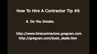 How to Hire a Contractor Tip #6 - Home Improvement Ideas