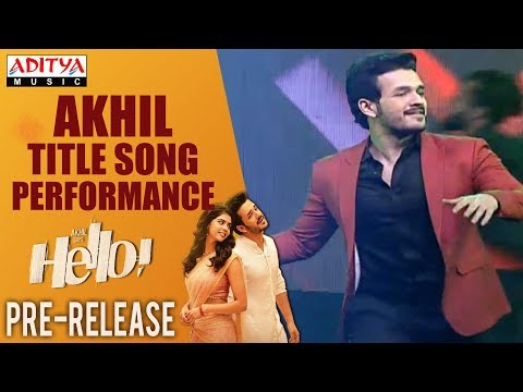 HELLO! Title Song Dance Performance By Akhil @ HELLO! Movie Pre Release Event