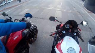 Honda Cbr 600 rr  Rs-5 Akrapovic Exhaust - MT 07 City Ride