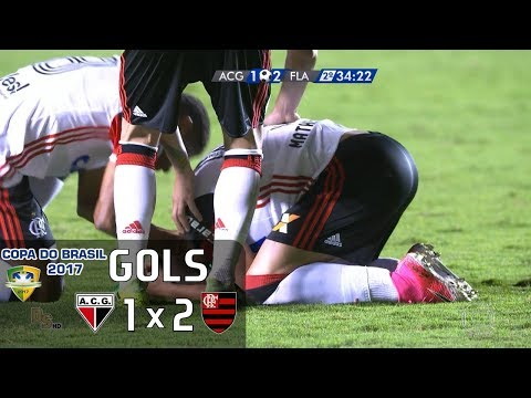 Gols - Atlético Goianiense 1 x 2 Flamengo - Copa do Brasil 2017 - Globo HD