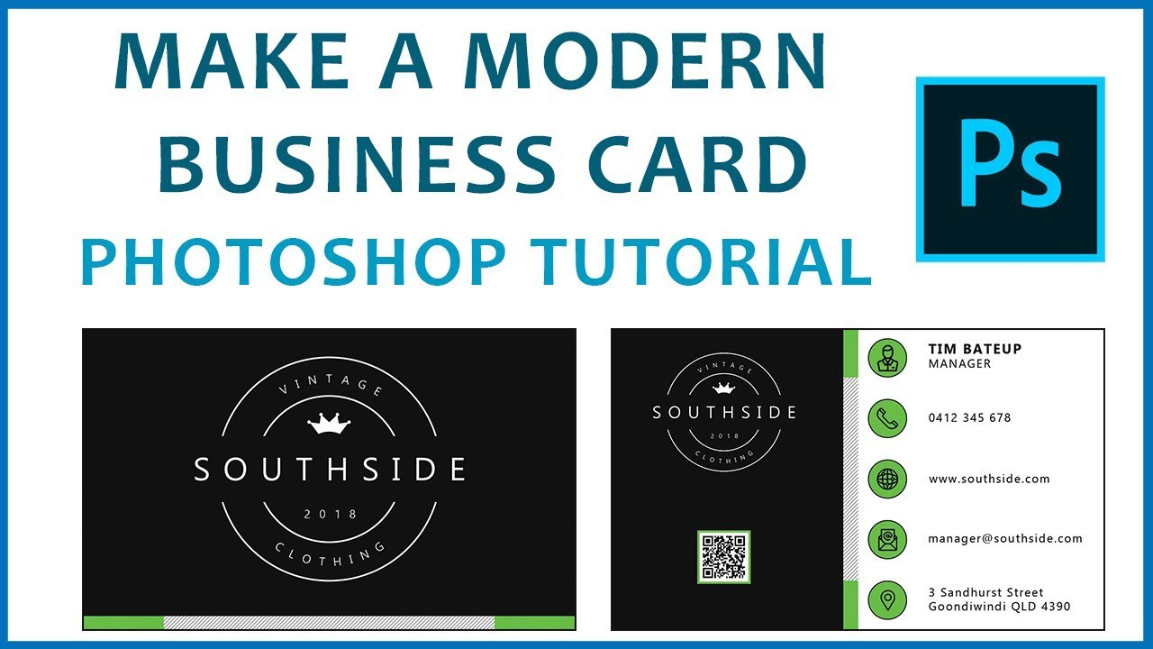 Photoshop tutorial make a modern double sided business card youtube photoshop tutorial make a modern double sided business card colourmoves