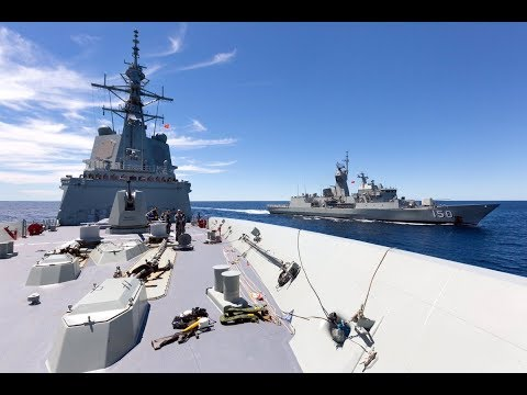 (WW3) Royal Australian Navy Frigates Confronted By Chinese Navy South China Sea