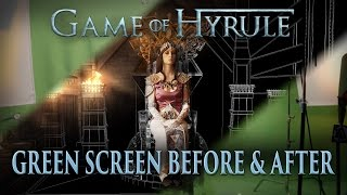 Game of Hyrule GREEN SCREEN Before and After