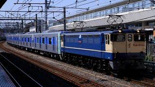 都営三田線6500形甲種輸送 大船駅通過シーン(2021年4月11日)