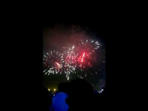 The most bizarre music accompaniment to fireworks... Ever.