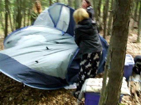 How To Fold A Pop-Up Tent & How To Fold A Pop-Up Tent - YouTube