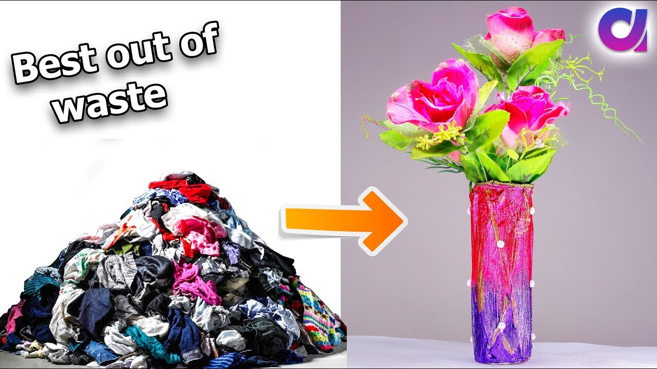 How to reuse your old clothes to make flower vase clothes how to reuse your old clothes to make flower vase clothes recycling artkala 290 reviewsmspy