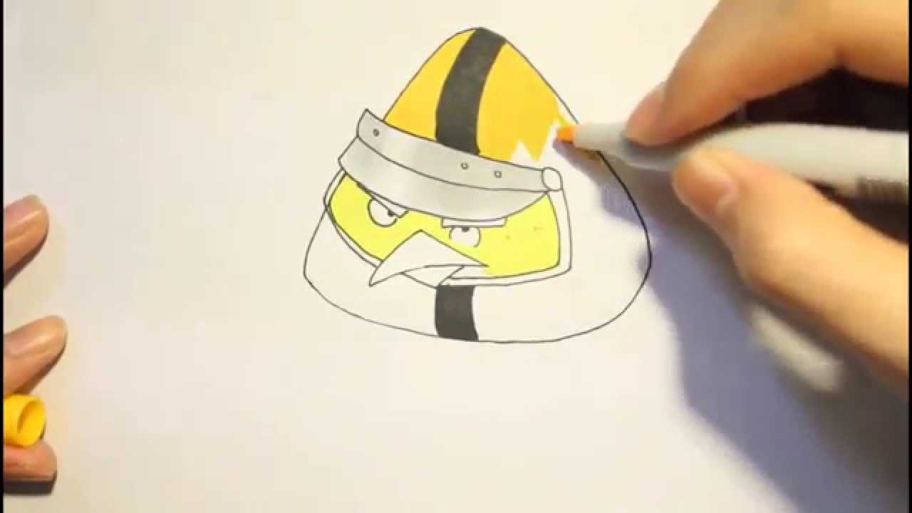 How To Draw Chuck Yellow Bird From Angry Birds GoComo ...