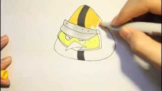 How To Draw Chuck Yellow Bird From Angry Birds Go|Como dibujar el pajaro amarillo paso a paso