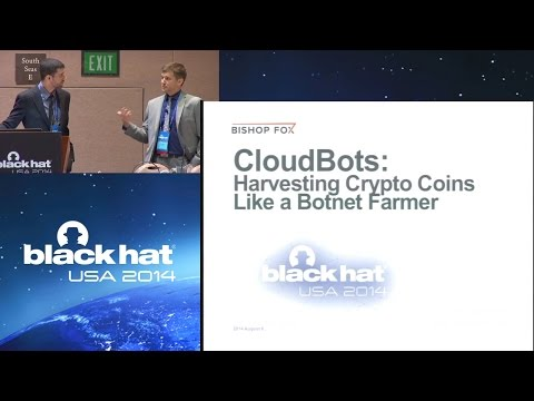 Black Hat USA 2014 - CloudBots - Harvesting Crypto Coins lik