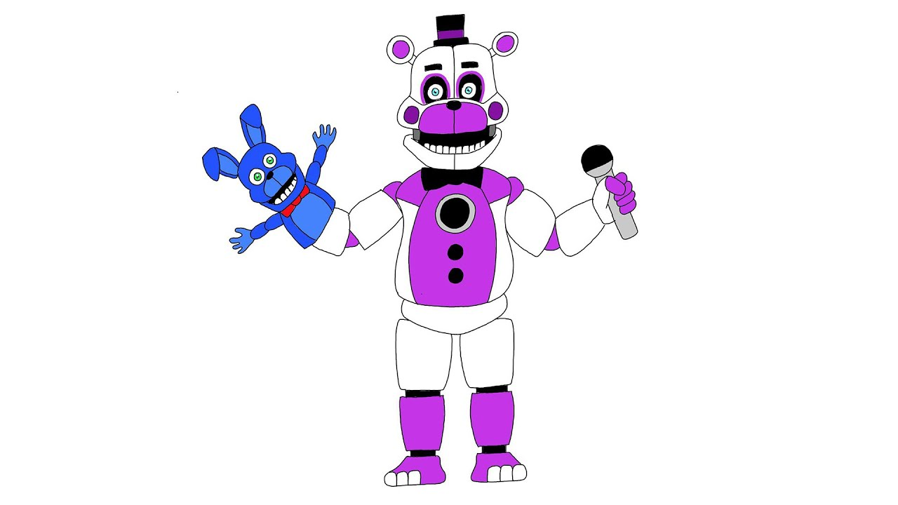 How to draw Funtime Freddy, Full Body, FNAF 5 Sister Location ...
