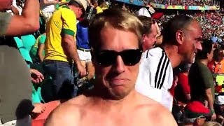 Oliver Pocher im Stadion - Deutschland - Portugal WM2014