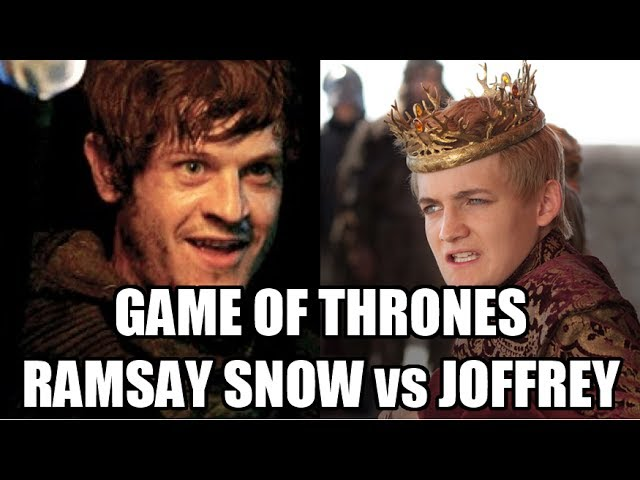 "GAME OF THRONES Cast decide ""Who is worse Joffrey or Ramsay Snow?"" #1"