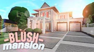 Bloxburg Aesthetic Blush Mansion Youtube