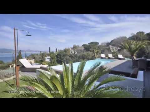 Villa for Sale Overlooking Bay of St Tropez / Villa contemporaine à vendre Saint Tropez
