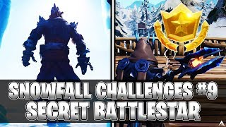 SECRET BATTLESTAR! Week 9 Snowfall Challenges (Fortnite Season 7)