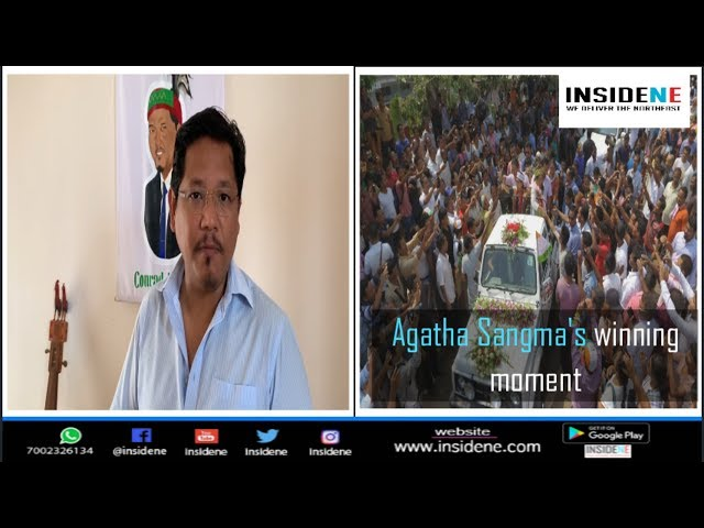 NPP supporters begin celebrations after Agatha Sangma's victory