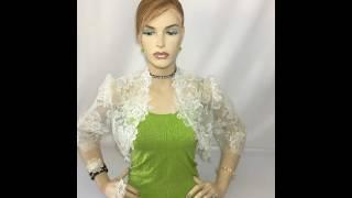 Women Ivory Lace Bridal Boleros Shrugs Jacket Cardigan