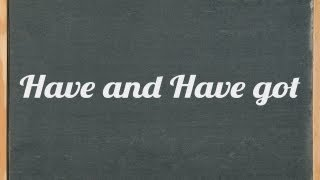 have and have got difference: English gramar tutorial video lesson