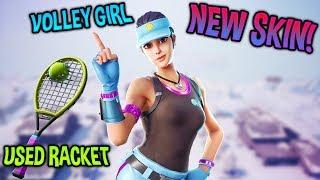 "NEW ""Volley Girl"" SKIN AND ""Used Racket"" BACKBLING LEAKED..! (Fortnite: Battle Royale)"