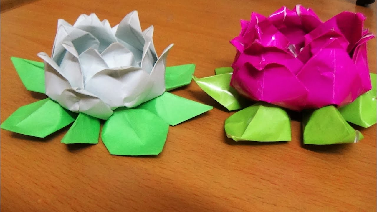 origami art how to make an origami lotus flower youtube