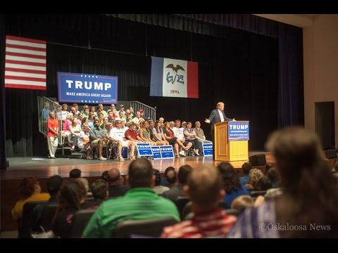 Trump in Oskaloosa Iowa & Press Conference, 28 Pages of 9/11