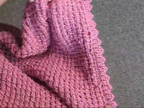 PICOT HEM BAMBOO STITCH BLANKET - YouTube