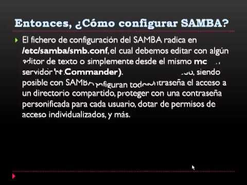 Configurar el SMB.CONF