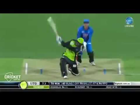 Usman Khawaja 100 in Big Bash League