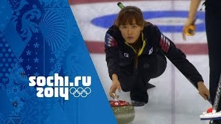 Curling - Women's Round Robin - Korea v USA | Sochi 2014 Winter Olympics