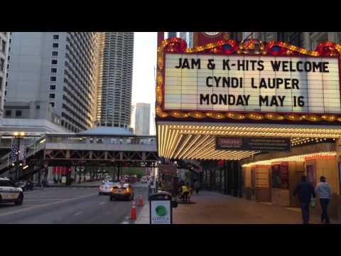 Chicago Theater near CTA Redline station on State street, Chicago, IL, USA