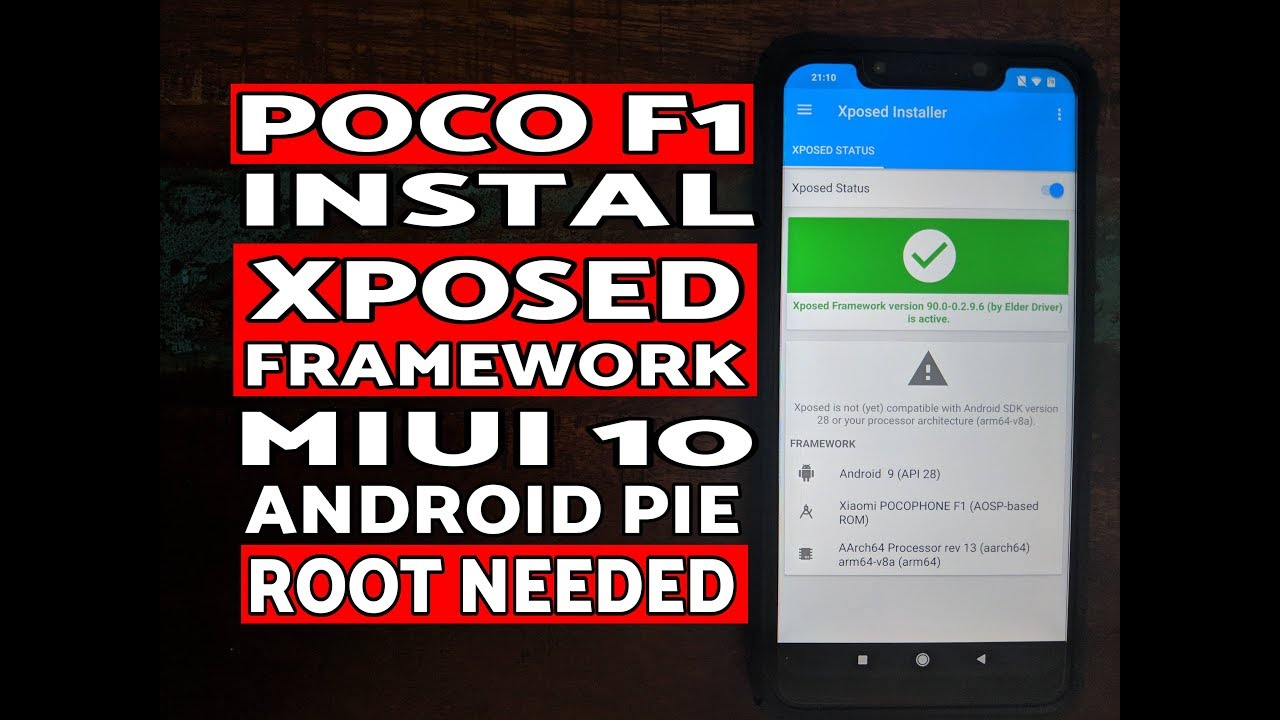 Instal Xposed Poco F1 MIUI 10 Android Pie